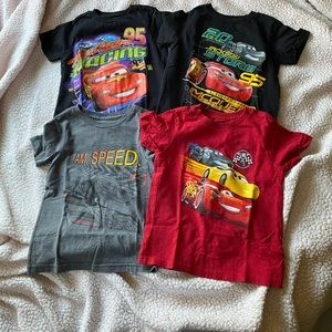 4 Boys Cars Shirts